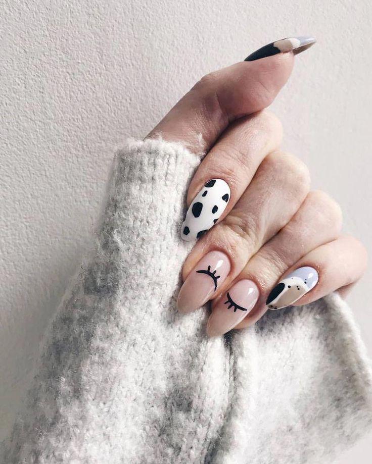 Beautiful winter acrylic nails. #winteracrylicnails ...