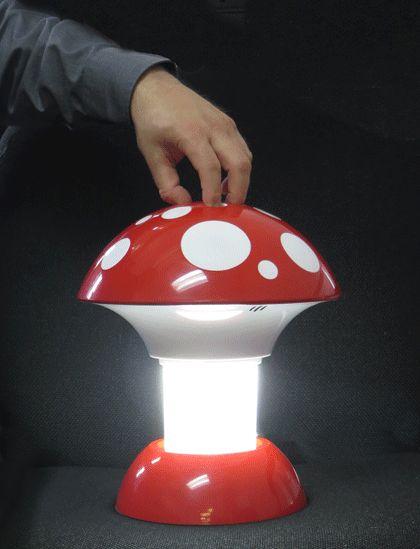 The New Mushroom Kosherlamp - 360 Light! Perfect as a Shabbos nightlight and totally Kosher.