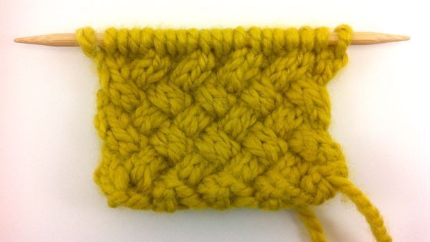 how to knit the woven cable stitch