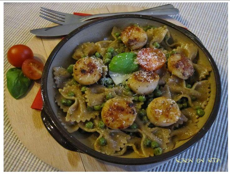 Koken en Kitch: Sint jacobsvruchten met strikjespasta