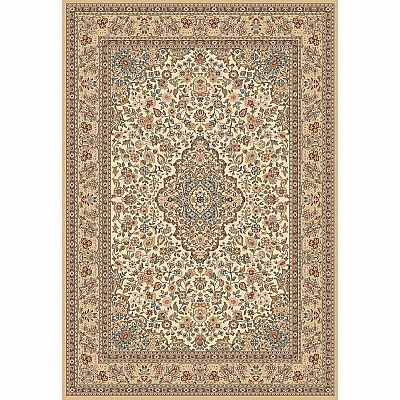 Traditional Persian carpet with geometric decorations 'Beige Hali' rug