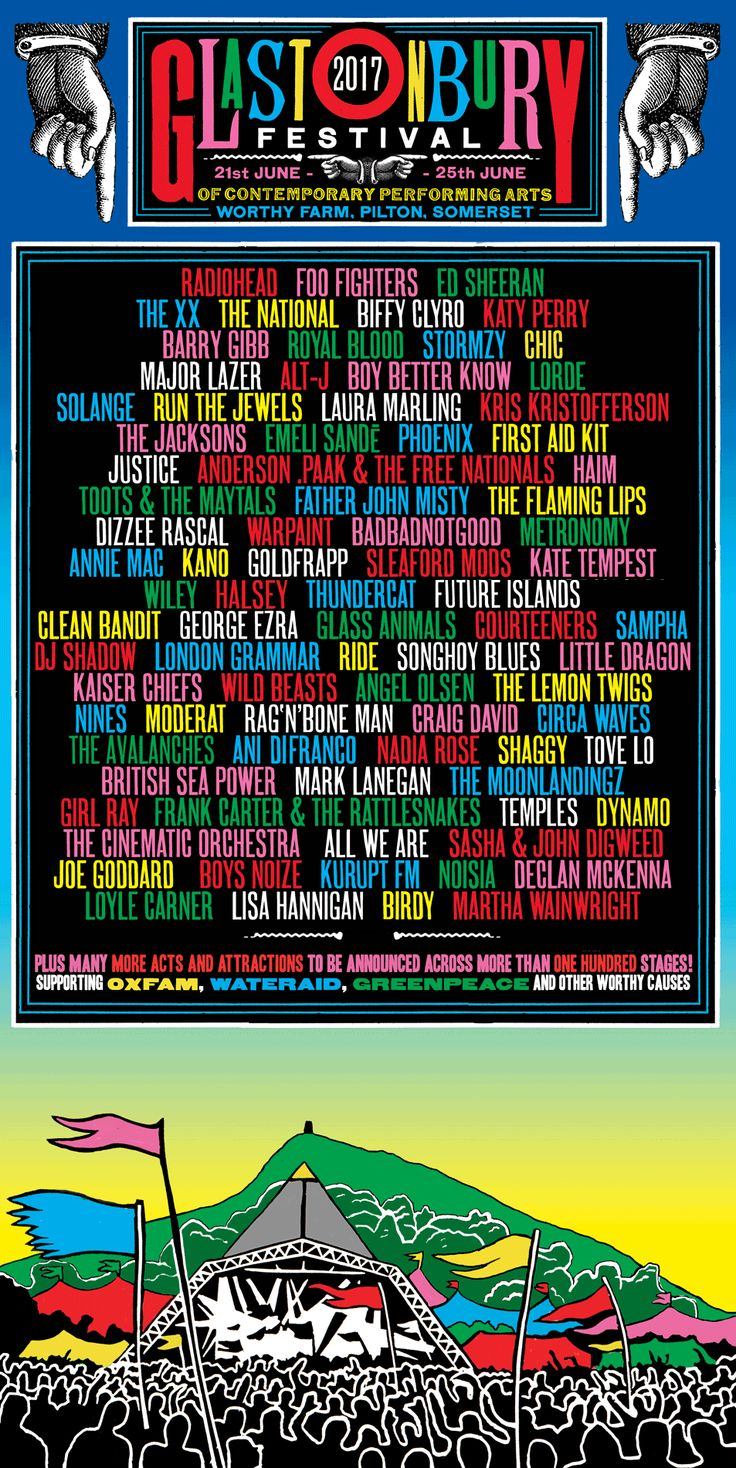 Glastonbury Headliners