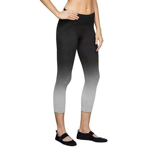 Women's Champion Seamless Dip Dye Capri Workout Tights, Size: S, Black... (530 MXN) ❤ liked on Polyvore featuring activewear, activewear pants, black medium gray, champion sportswear and champion activewear