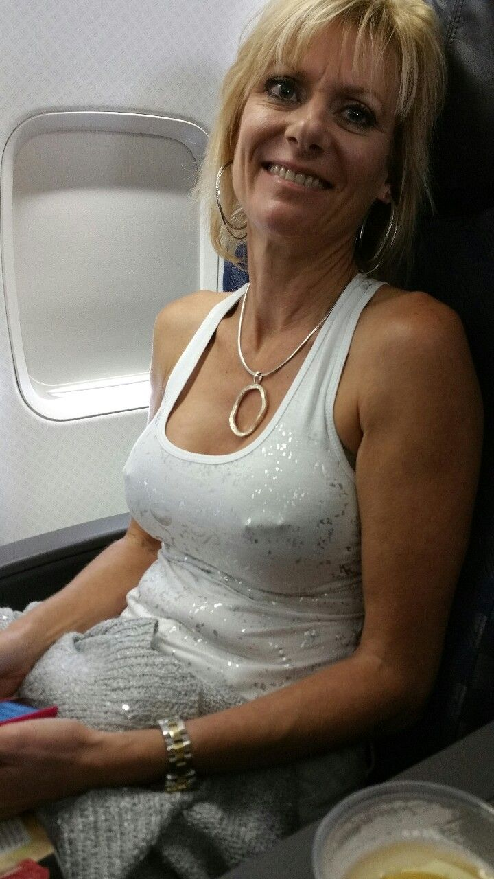 milf on plane