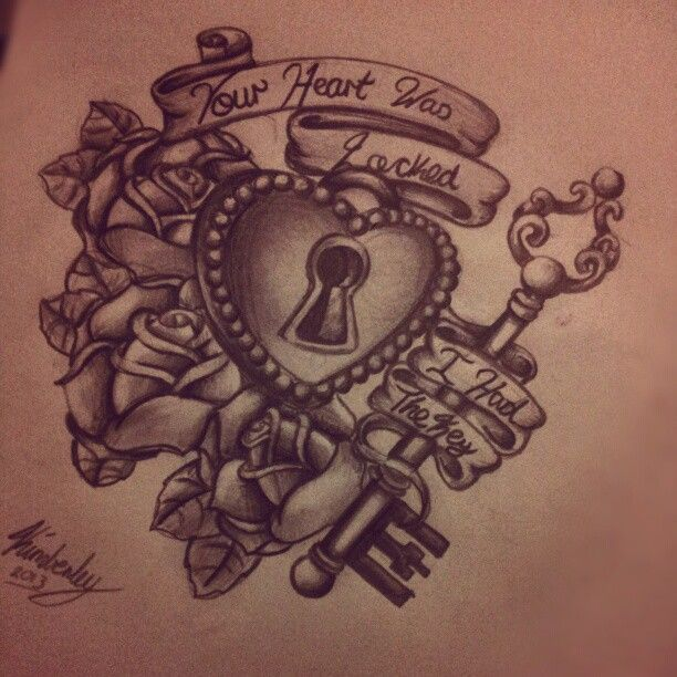 25 Heart Locket Tattoo Designs Ideas