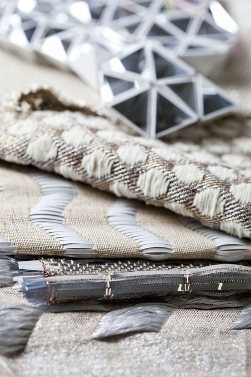 Contemporary Weaving - woven textiles design with mixed surface patterns & textures // Sarah Poley