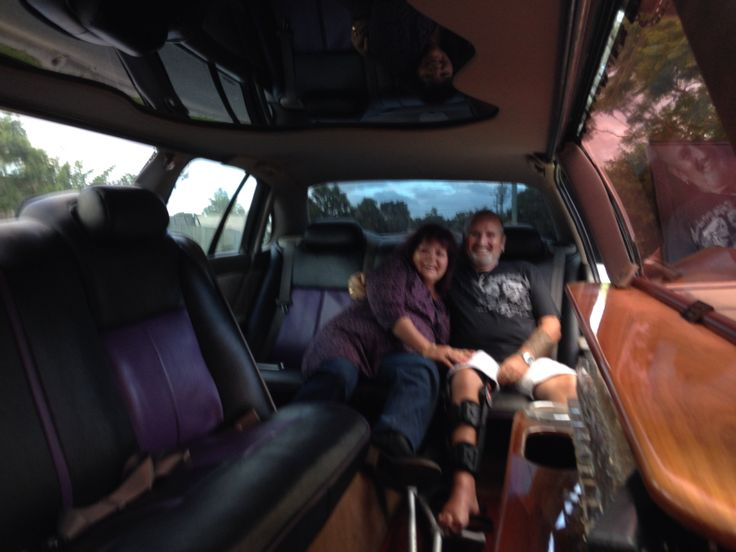 Me and wife Janine in the Limo on the way to see Suzi Q.