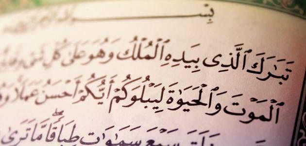 فضل قراءة سورة الملك و ثوابها علي المسلم Arabic Calligraphy Blog Blog Posts