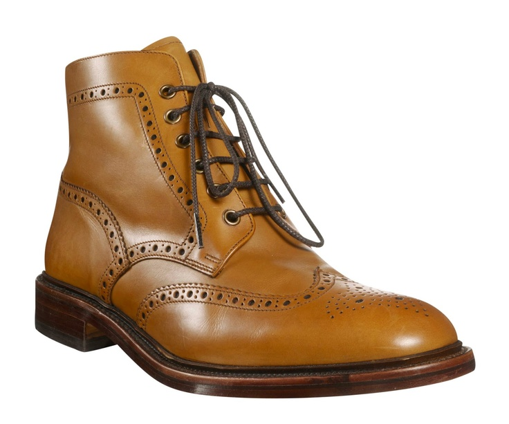 Loakes brown brogue boots