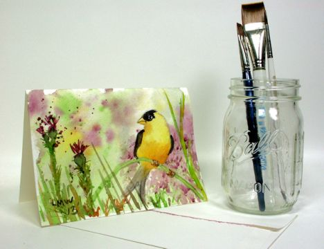 Easy Watercolor Tutorial: Goldfinch | Thefrugalcrafter's Weblog