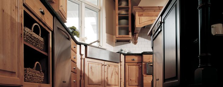 Knotty Alder, Rustic Farm Styled Kitchen Design - Dura Supreme Cabinetry  good find!