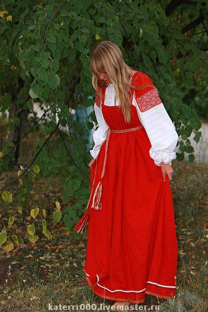 Одежда ручной работы. Ярмарка Мастеров - ручная работа Русский народный костюм мод.1. Handmade.