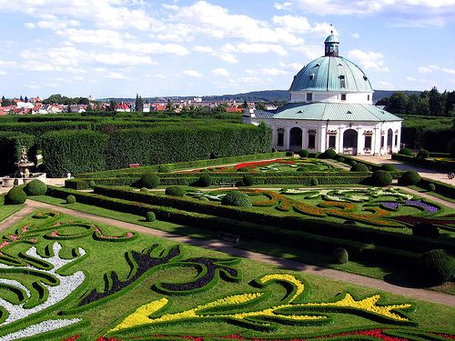 Gardens and Castle at Kroměříž, Czech Republic