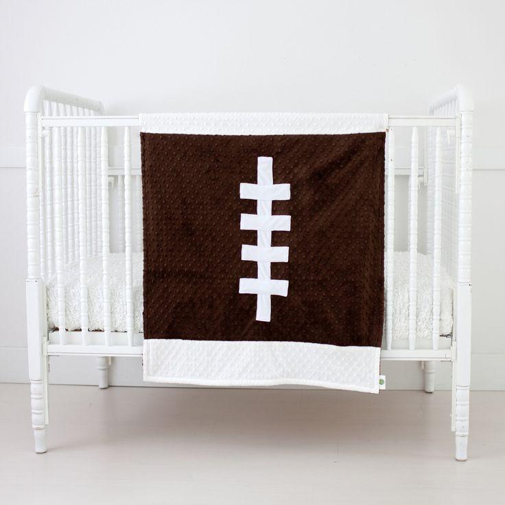 Baby Blanket Football Brown