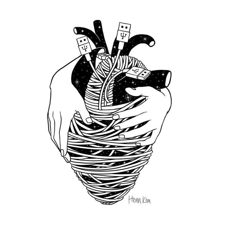 """Charge me up . . . 오늘 나의 마음은 충전이 필요해 #charger #empty #heart #힘든하루 #그림으로충전"""