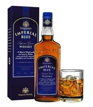 Imperial Blue is one of the most popular and affordable Whiskey in Indian. Imperial Blue has strong taste and aroma. The best part is that the brand is easily available and also within reasonable price. This is owned by Seagram in India.