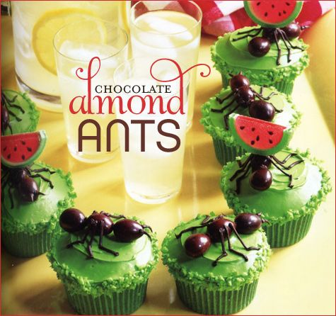 """Ants on a picnic cupcake from 'What's New, Cupcake"""" Love the creativity of these books."""