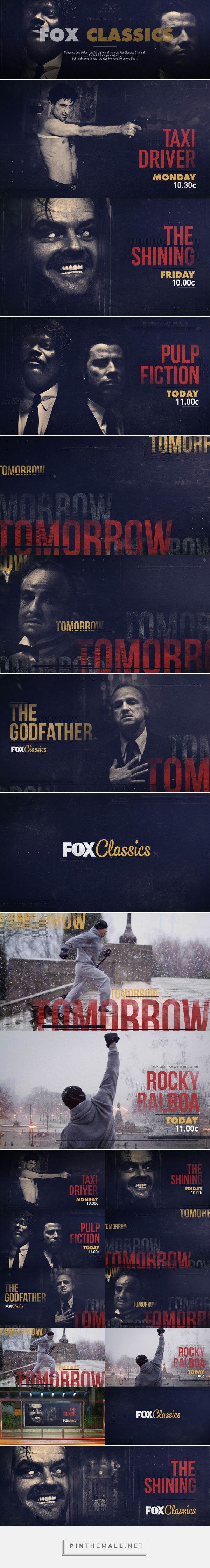 Fox Classics / Pitch on Behance... - a grouped images picture - Pin Them All