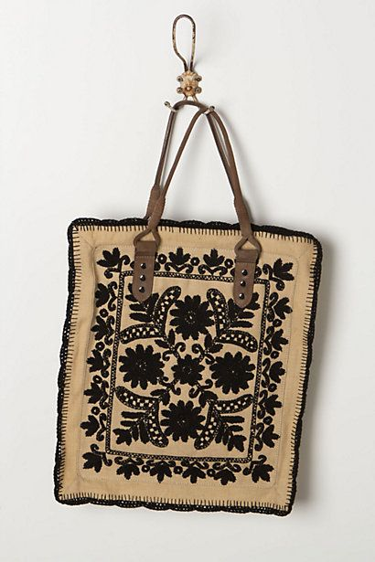 Framed Needlepoint Tote #anthropologie