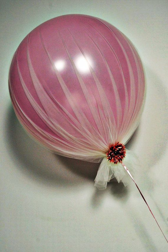 Champagne Tulle Pearl Pink wedding balloon by StephShivesStudio, $45.00
