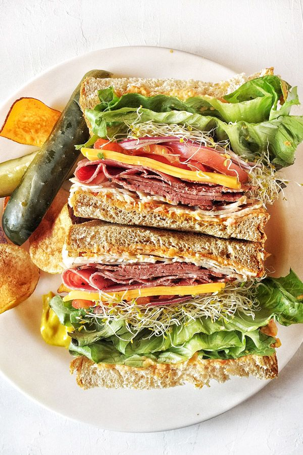 How to built the BEST sandwiches!! Doesn't this Roast Beef Sandwich look amazing??