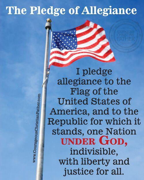The Pledge of Allegiance #AmericanFlag