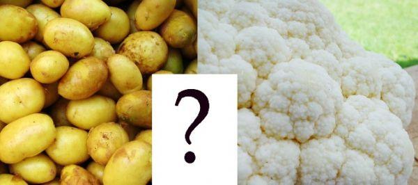 Ziemniaki i kalafior Mimo że ziemniaki nie są takie straszne, jak się niektórym wydaje, zawierają potas, magnez, żelazo, fosfor, wapń, cynk, miedź, mangan, witaminę A, B1, B2, B3, B6, C, D, E i K, PP oraz błonnik, to jeżeli zależy nam na zmniejszeniu kaloryczności naszego dania lub wypróbowaniu nowych smaków warto zastąpić puree ziemniaczane puree kalafiorowym ;) Więcej na: https://www.fitomento.com/wiedza/zdrowe-zamienniki