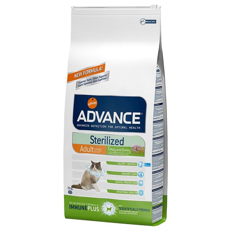 Advance Sterilized Adult com peru ração para gatos