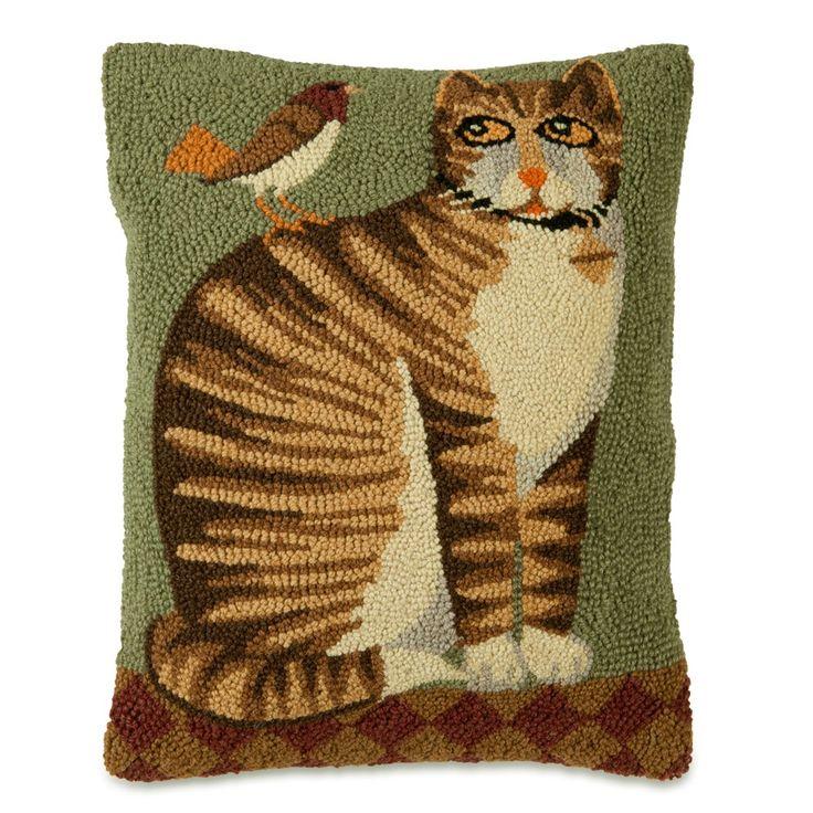Folk Art Cat Pillow | Sturbridge Yankee Workshop