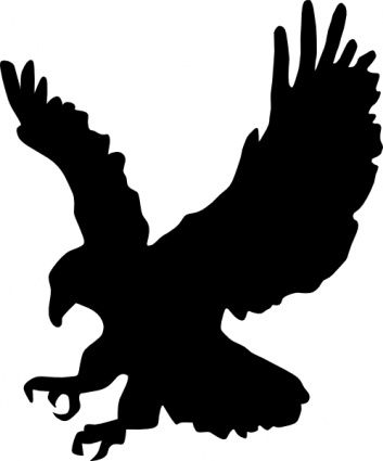 19 best wildlife silhouette clip art images on pinterest rh pinterest com  hawk clipart easy