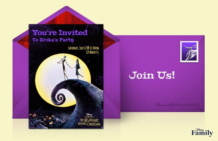 Send The Nightmare Before Christmas online invitations!