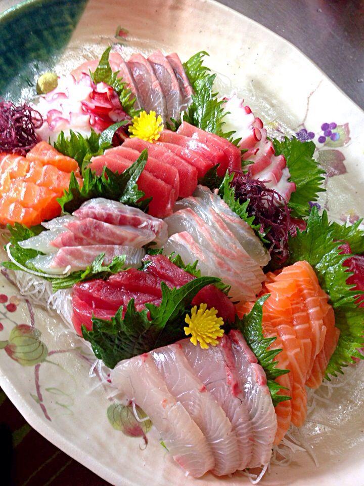 みお's dish photo 刺身盛り合わせ | http://snapdish.co #SnapDish #お誕生日