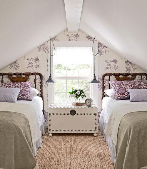 Sweet attic bedroom.