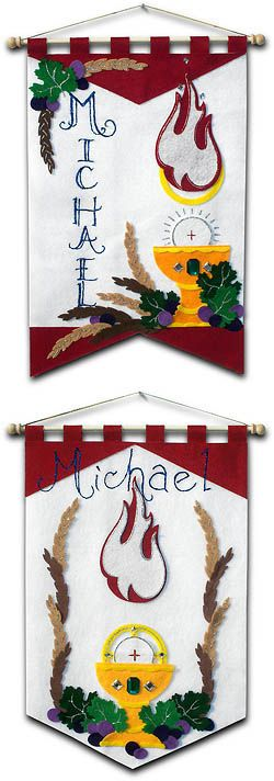 ~ DELUXE ~ - First Communion Banner Kit - 12 in. x 18 in. - Holy Spirit