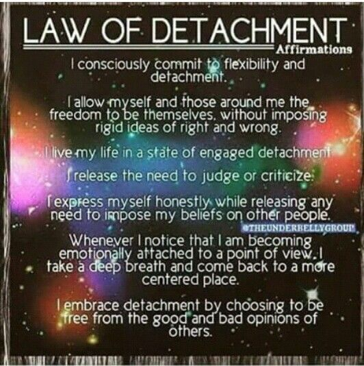 Law of detachment affirmations