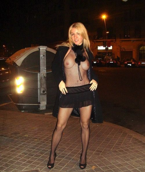 Pantyhose flashing wives
