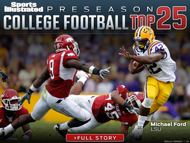 Thankssports Illustrated  Preseason College Football Top No Alabama No Usc No Lsu Awesome Pin