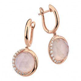Bijuteria teilor: Cercei diamante și cuarț roz