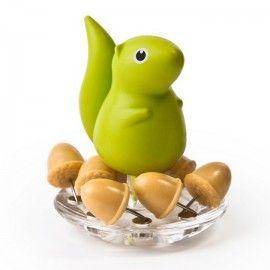 #Держатель канцелярских кнопок Squirrel&Acorn Qualy Зелёный
