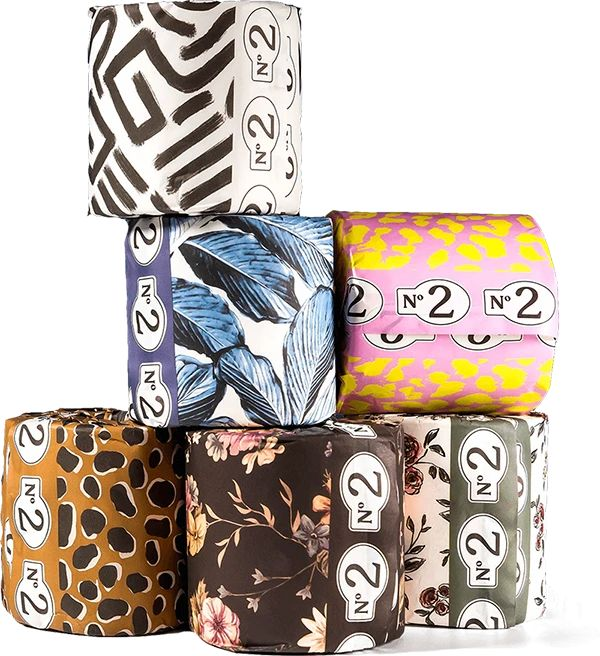 No.2 Toilet Paper - 100% Bamboo, Eco-Friendly TP Paper Packaging, Cute Packaging, Modern Toilet Paper Holders, Natural Bathroom, Best Trade, Unique Settings, Eco Friendly House, How To Make Paper, Paper Goods