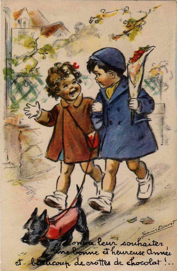 Germaine Bouret (On va leur souhaiter une bonne et heureuse année et beaucoup de crottes de chcolat)