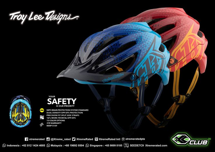 The all-new for 2017-A2 helmet redefines mountain bike safety, style, comfort and ventilation. The first helmet in its class to combine EPP (for slow speed impacts) and EPS (for high speed impacts) in one sleek package, that will set a new benchmark for mountain bike helmets   tinyurl.com/ybkbwrld    #xtremerated #xclub #tld #troyleedesigns #adventure #outdoor #mtb #dirtbike #gravity #downhill
