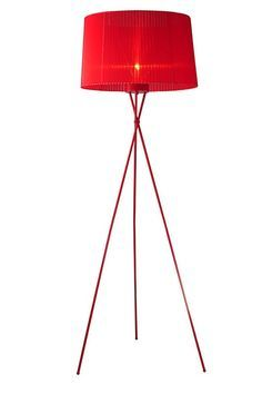Accessorize with the 2010 Red Floor Lamp to add holiday cheer to the room.