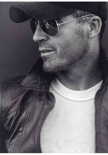 Jock Ingram, scruffy older male model.