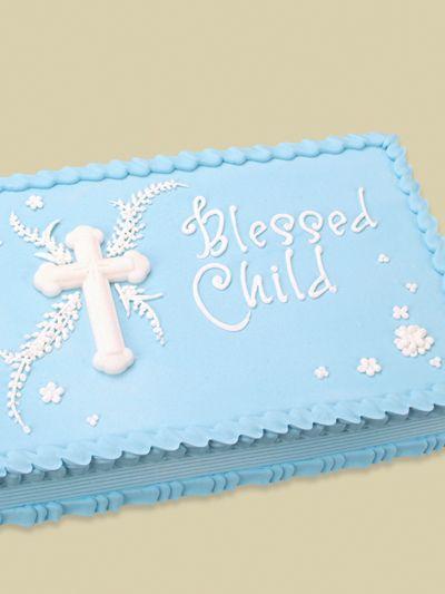 Blessed Child Quarter Sheet Cake