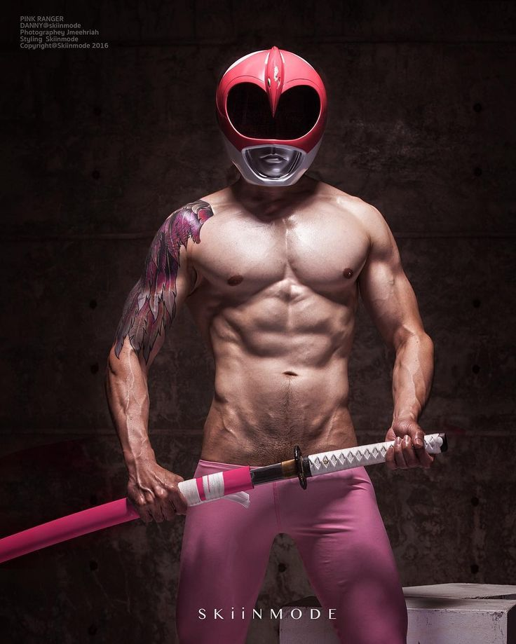 Japanese pink power ranger in trouble