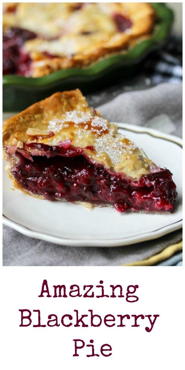 Blackberry Pie I am so thrilled with this blackberry pie! #pie #blackberries