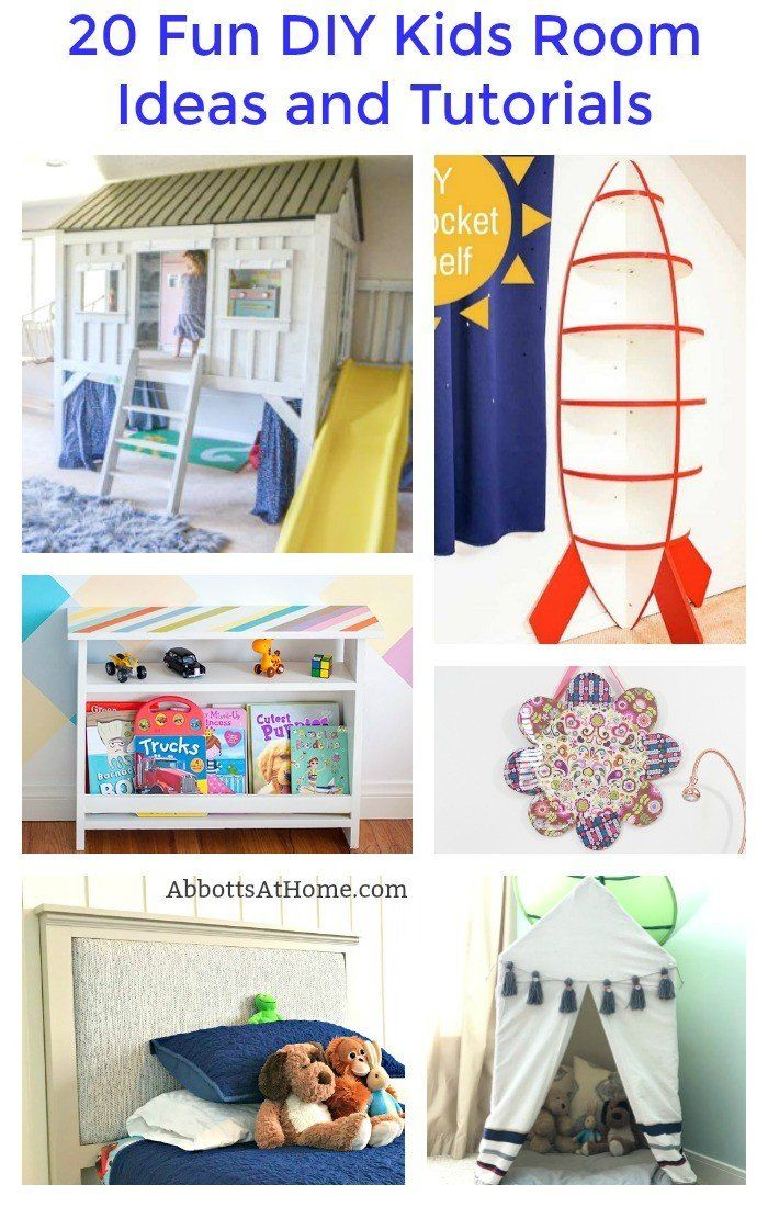 20 Fun Diy Kids Room Ideas And Tutorials Abbotts At Home Kids Rooms Diy Diy Projects For Bedroom Diy For Kids