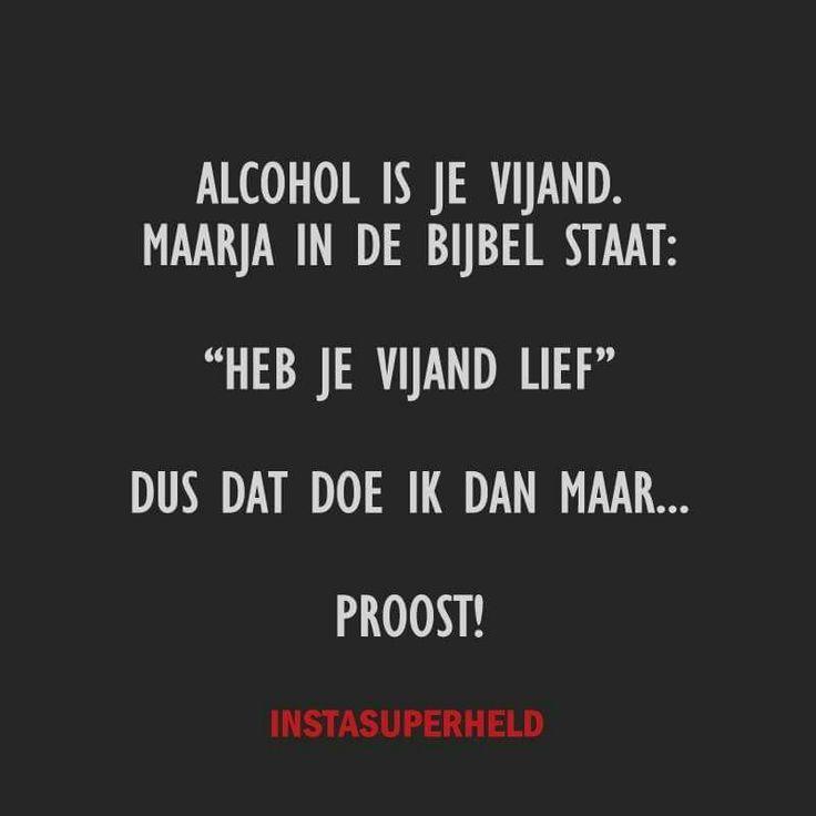 Ik mag geen alcohol.