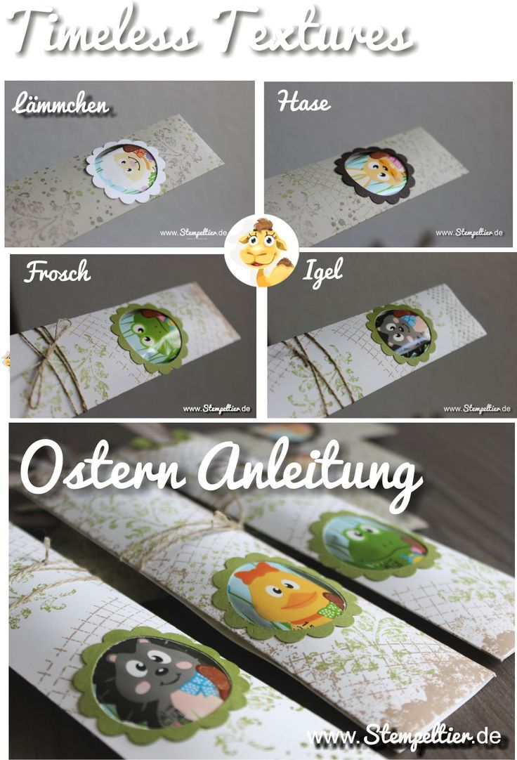 Ostern 2016 Anleitung Stampin Up Easter Tutorial Schoko Lolli Lolly Verpackung Chocolate Wrapper Stempeltier